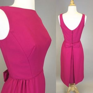 Vintage 60s Pink Sheath Dress With Bow